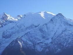 Le mont blanc, vu de Chamonix