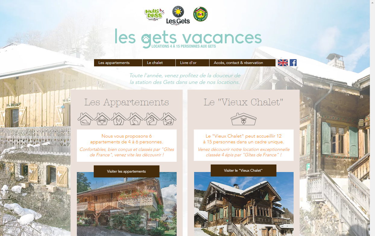 Location d'appartements et de chalet aux Gets